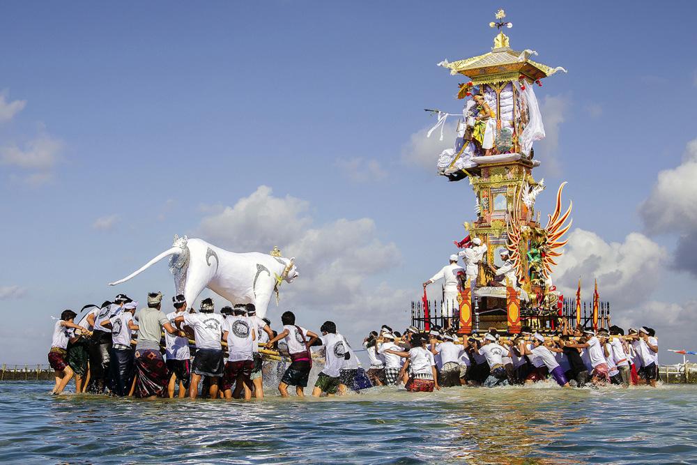 Bade and Lembu Tradition Paraded around the beach ©Dw Gd Aristawan G